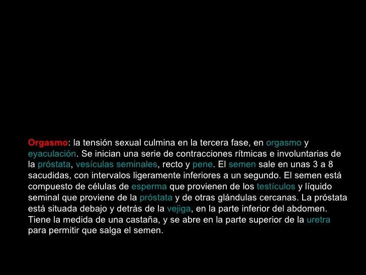 Esquema de la respuesta sexual en el hombre   Siguiendo el esquema anterior, la respuesta sexual del hombre tiene las sigu...