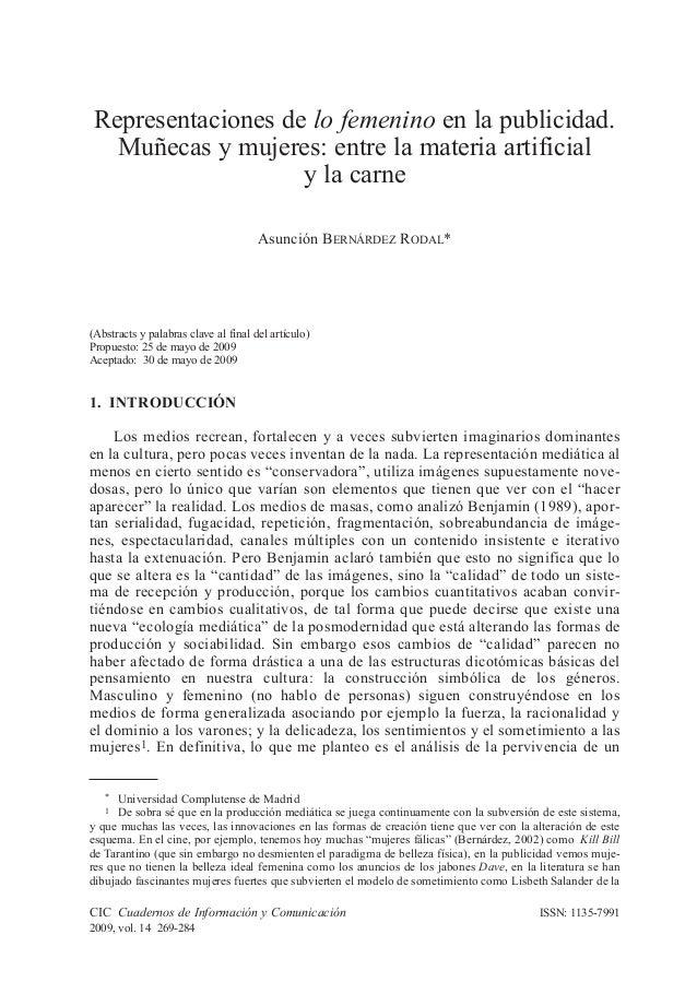 CIC Cuadernos de Información y Comunicación 2009, vol. 14 269-284 ISSN: 1135-7991 1. INTRODUCCIÓN Los medios recrean, fort...