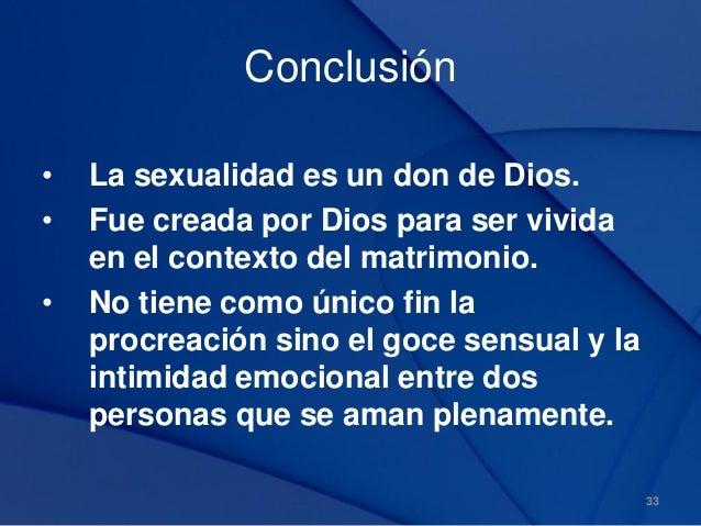 Sexualidad segun el plan de dios