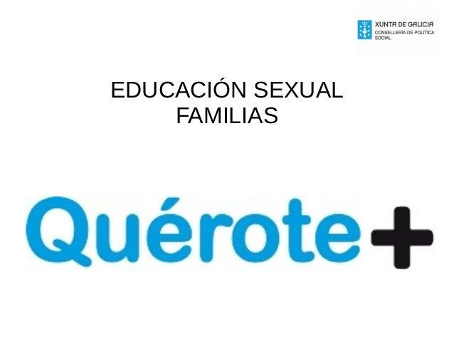 EDUCACIÓN SEXUAL FAMILIAS