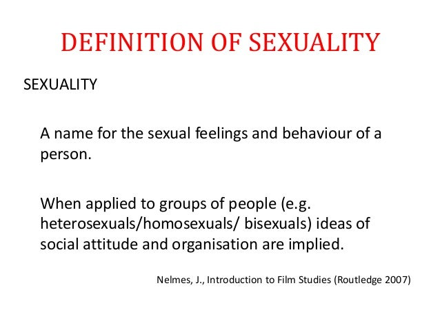What Does The Term Sexuality Mean