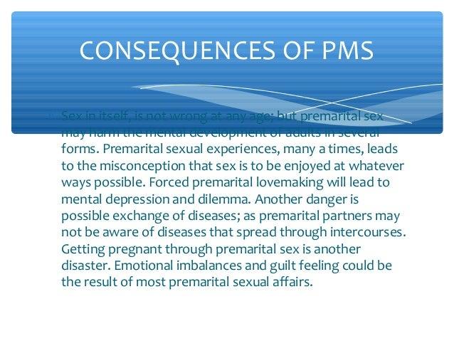Premarital sex disadvantages
