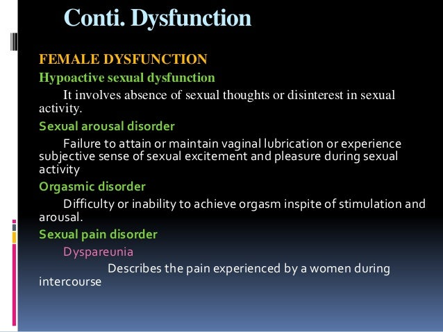 Antidepressants and the ability to achieve orgasm