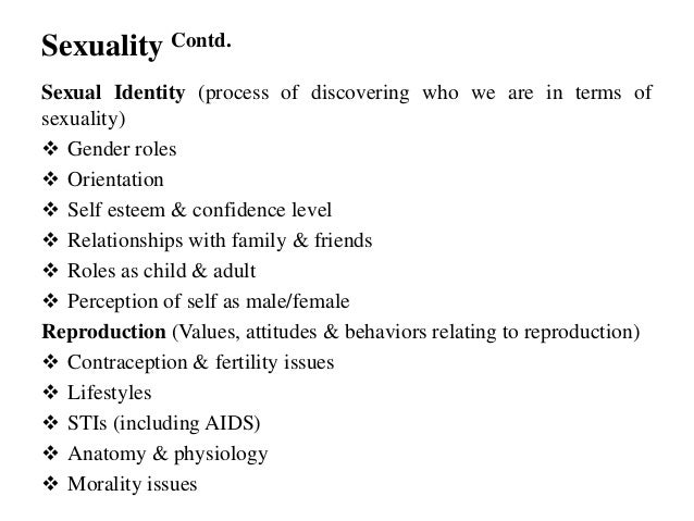 How does self esteem affect sexualality