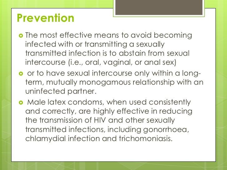 reducing sti or hiv prevention