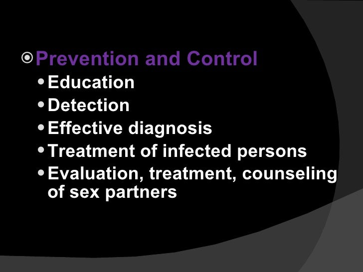 Sexually transmitted diseases prevention controls