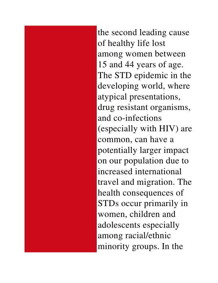 sexual transmitted disease essay Sexually transmitted diseases in encyclopedia of global health, by yawei  zhang sage publications, 2008   .