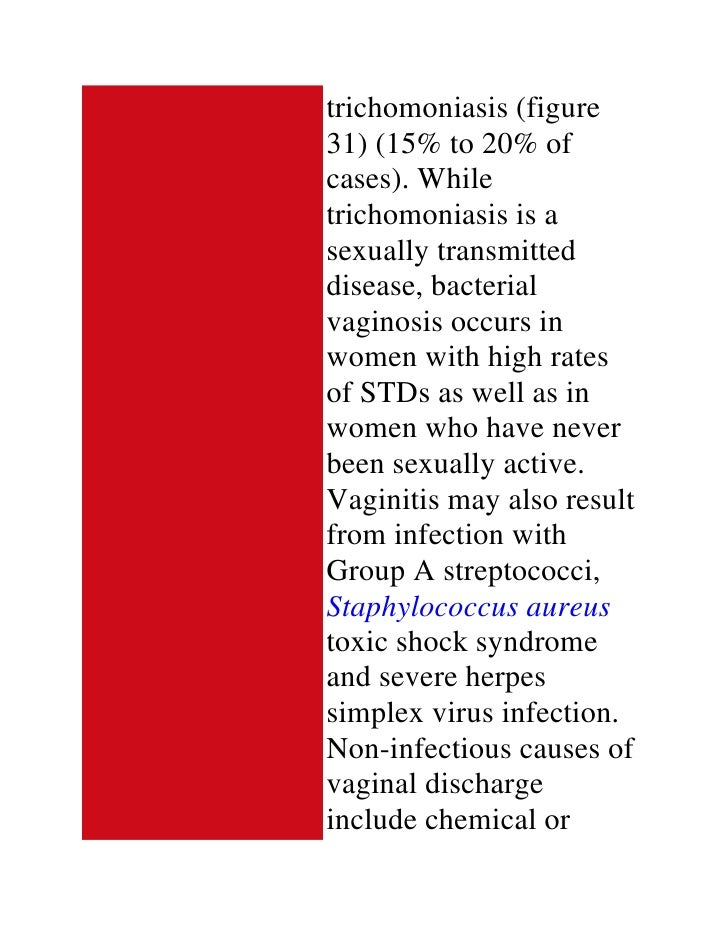 Non sexually transmitted bacterial infection