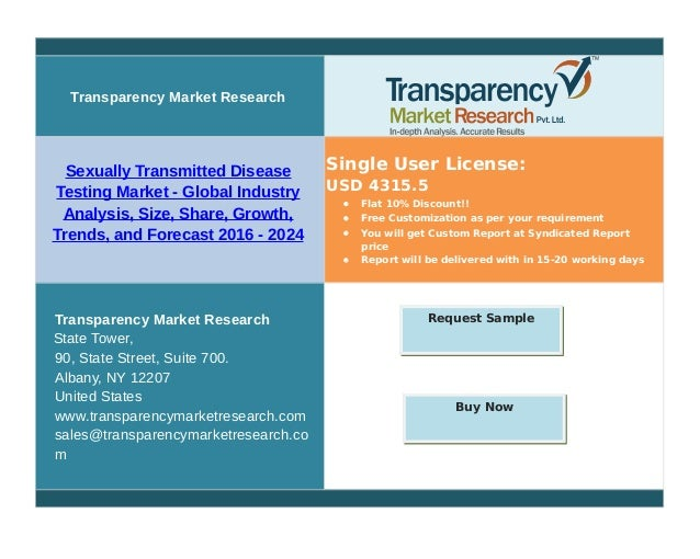 Transparency Market Research Sexually Transmitted Disease Testing Market - Global Industry Analysis, Size, Share, Growth, ...
