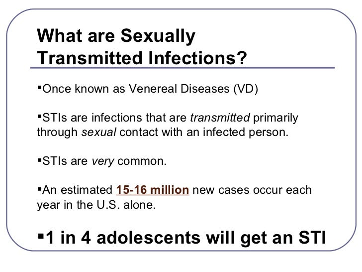 Sexually transmitted diseases ppt