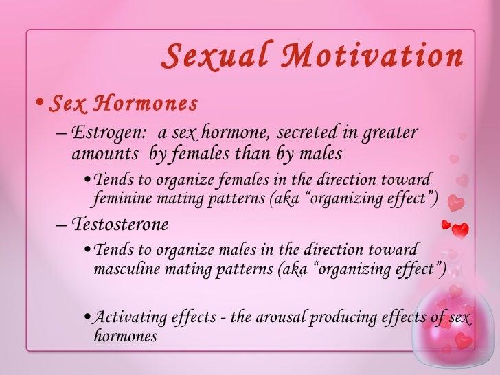 Lack of motivation and sex hormones
