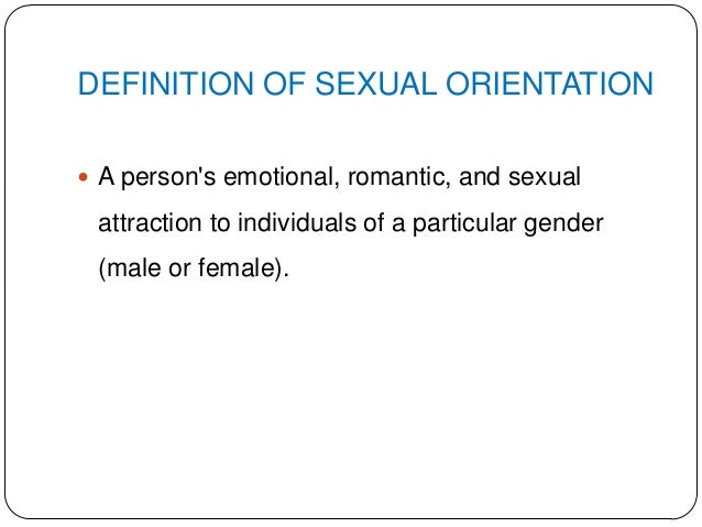 What does sexual orientation means