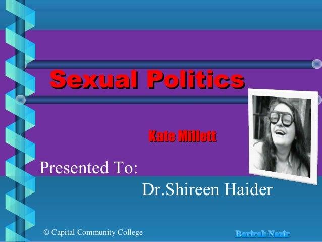 Kate millett sexual politics ppt