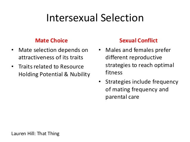 Intersexual selection example