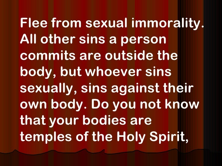 Immorality Sexual Bible On