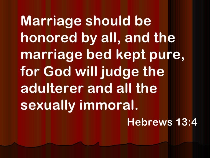 The bibles view on sex
