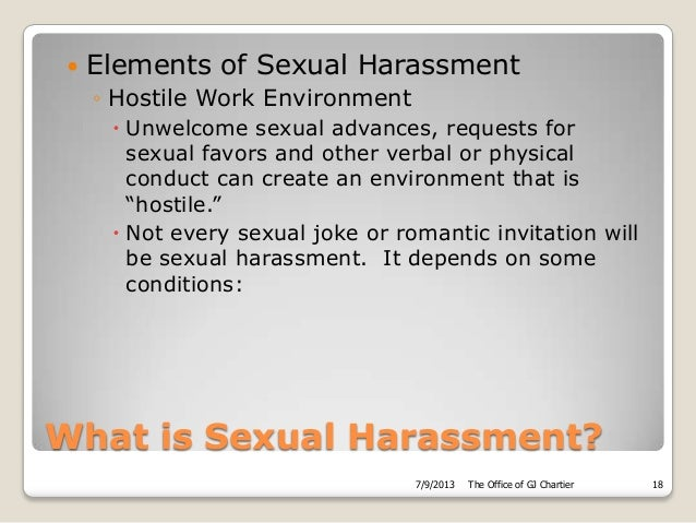 Sexual, racial and other forms of harassment