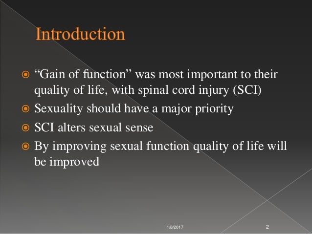 Sexual function spinal cord injury