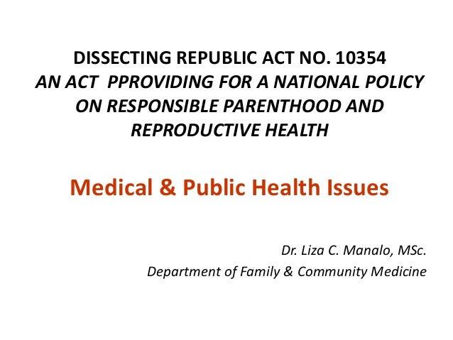 reproductive health law essay