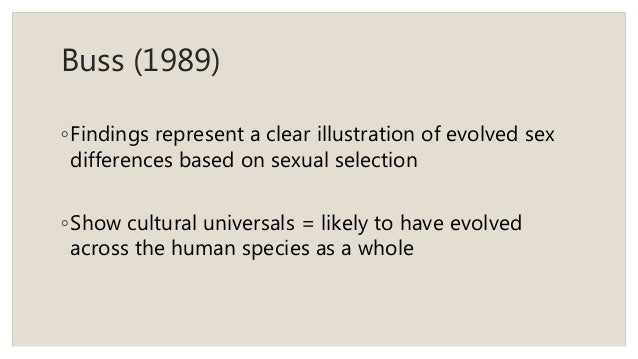 Sexual selection theory buss