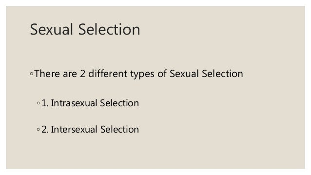 Difference between intra and intersexual selection