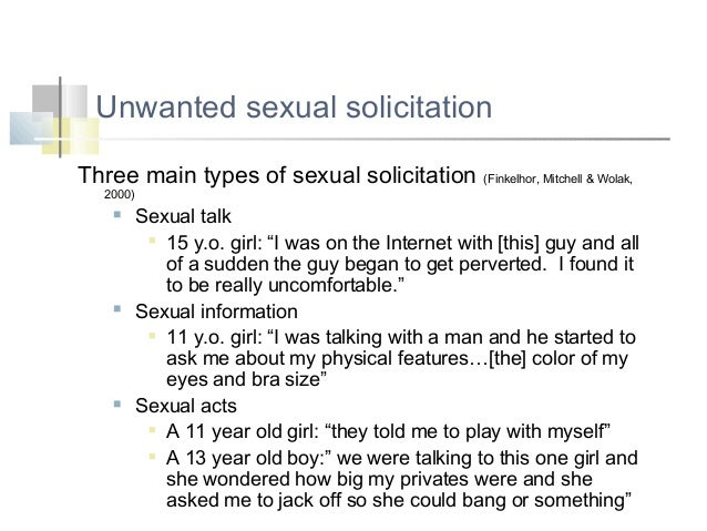 What is sexual solicitation