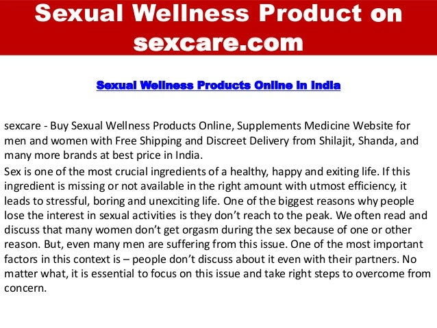 Sexual Wellness Product on sexcare.com sexcare - Buy Sexual Wellness Products Online, Supplements Medicine Website for men...