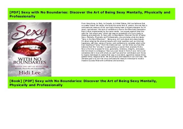 Pdf Sexy With No Boundaries Discover The Art Of Being Sexy Mentall