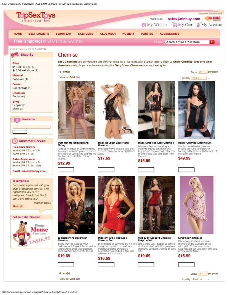 Sexy Chemise,sheer chemise | Over 1.500 Chemise For Any Size in stock at einbuy.com                                       ...