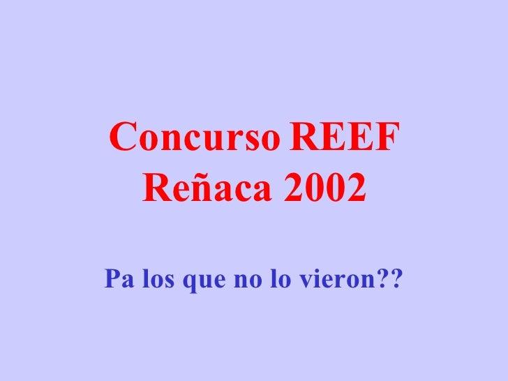 Concurso REEF Reñaca 2002 Pa los que no lo vieron??
