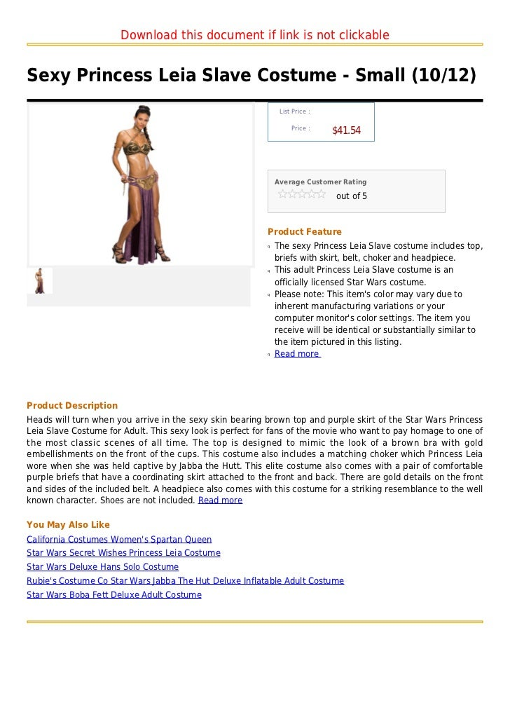 Sexy princess leia slave costume small (10 12)