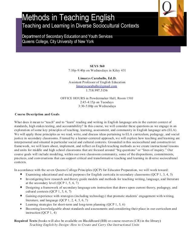 Esl academic writing course syllabus