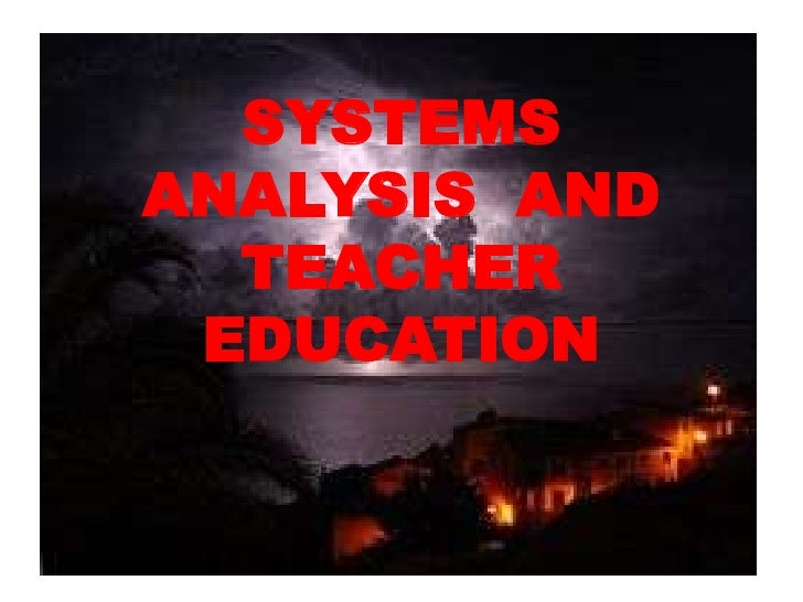 SYSTEM ANALYSIS IN EDUCATION