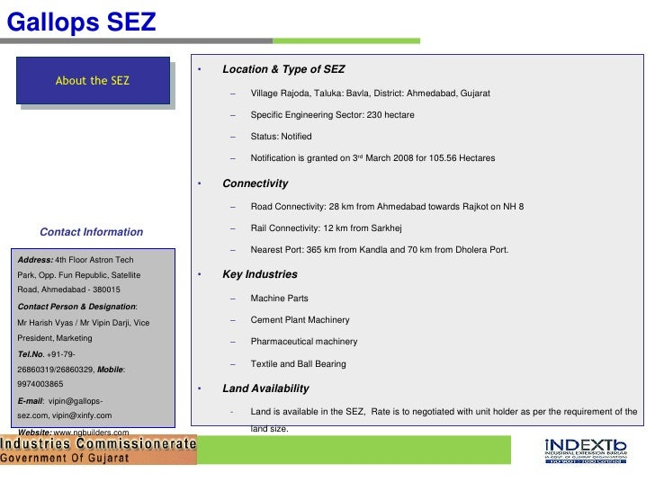 Special Economic Zones (SEZ) in Gujarat