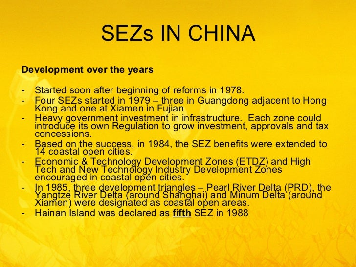 role of sez What is special economic zones (sez) explain role of special economic zones (sez) in international business.