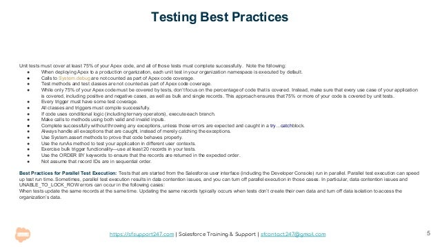 Salesforce Apex Testing