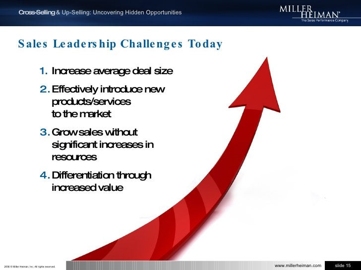 Sales Leadership Challenges Today<br />Increase average deal size<br />Effectively introduce new products/services to the ...