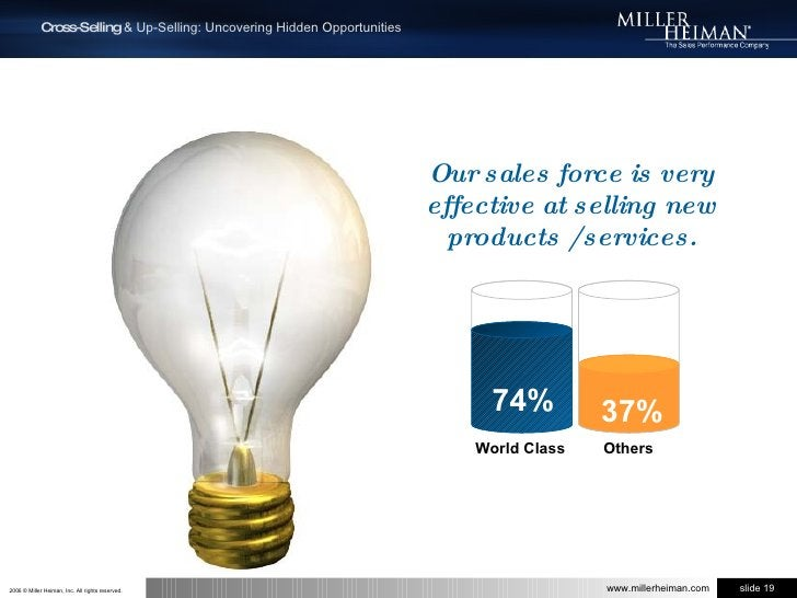 Our sales force is very effective at selling new products / services.<br />74%<br />37%<br />  Others<br /> World Class<br />
