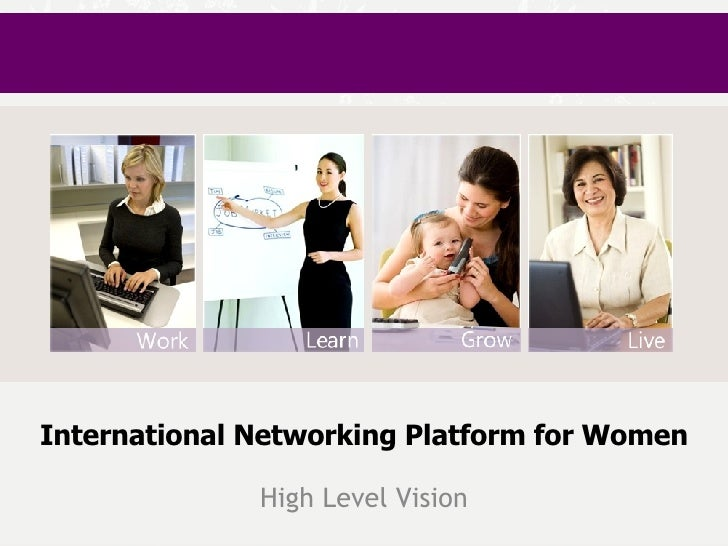 International Networking Platform for Women High Level Vision