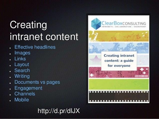 Intranet content tactics - Interaction 2014