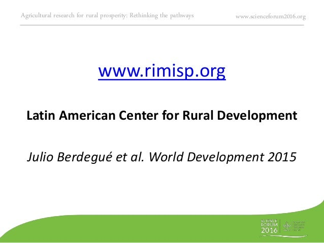 Agriculture Research And Poverty Reduction Pathways And
