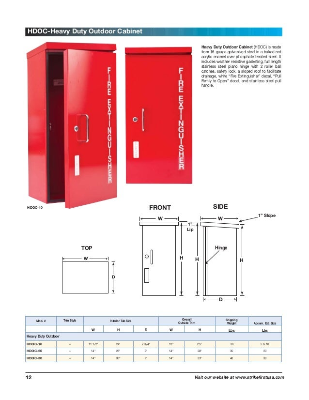Fire Extinguisher And Cabinets Catalog - Outdoor fire extinguisher cabinets