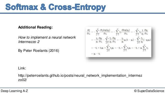 Deep Learning A-Z™: Convolutional Neural Networks (CNN) - Summary