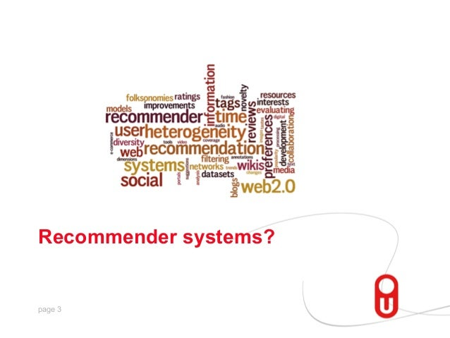 Recommender systems?  page 3