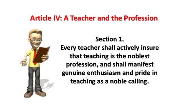 teaching is the noblest of all professions
