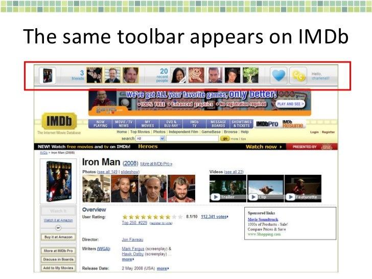 The same toolbar appears on IMDb