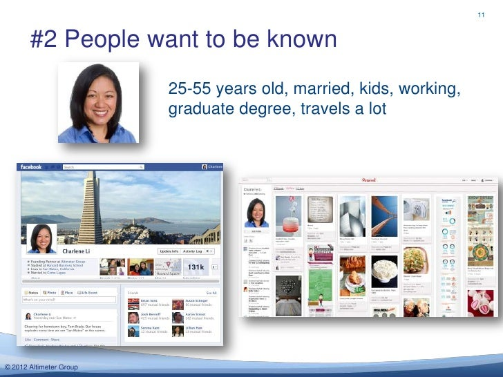 11       #2 People want to be known                         25-55 years old, married, kids, working,                      ...