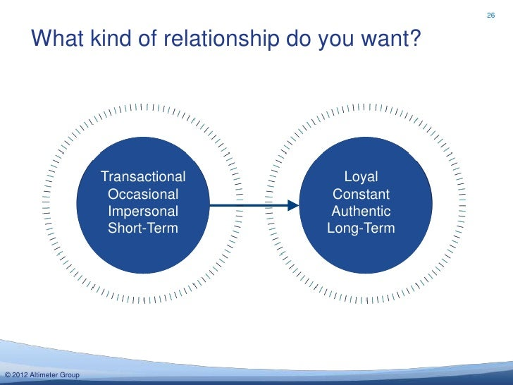 26       What kind of relationship do you want?                         Transactional     Loyal                          O...
