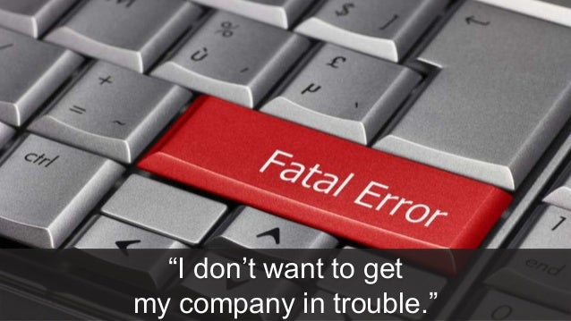 "27 #MKTNATION ""I don't want to get my company in trouble."""