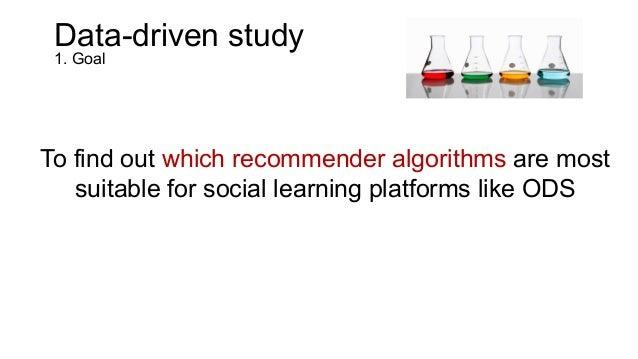 Data-driven study 2. Method  • Testing several recommender algorithms – Classical collaborative filtering algorithms – ...